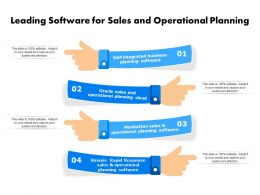 Leading Software For Sales And Operational Planning