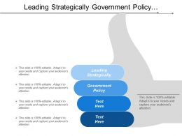 Leading Strategically Government Policy Development Formulation Environmental Scanning Cpb