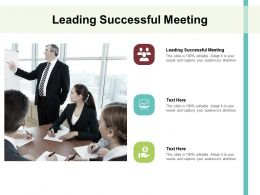 Leading Successful Meeting Ppt Powerpoint Presentation Portfolio Brochure Cpb