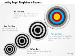 Leading Target Completion In Business Image Graphics For Powerpoint