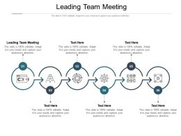 Leading Team Meeting Ppt Powerpoint Presentation Slides Infographics Cpb