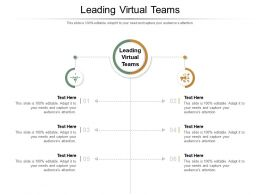 Leading Virtual Teams Ppt Powerpoint Presentation Infographics Slides Cpb