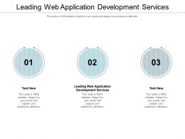 Leading Web Application Development Services Ppt Powerpoint Presentation Portfolio Cpb