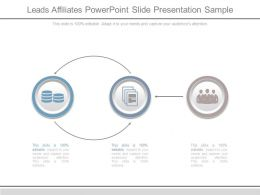 Leads Affiliates Powerpoint Slide Presentation Sample