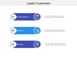 Leads Customers Ppt Powerpoint Presentation Styles Background Image Cpb