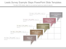 Leads Survey Example Steps Powerpoint Slide Templates