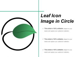 Leaf Icon Image In Circle