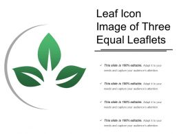 Leaf Icon Image Of Three Equal Leaflets