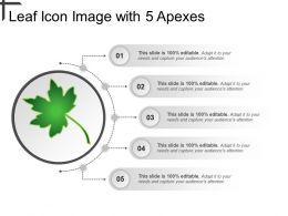 Leaf Icon Image With 5 Apexes