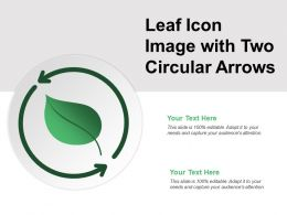 Leaf Icon Image With Two Circular Arrows