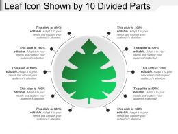 Leaf Icon Shown By 10 Divided Parts