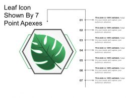Leaf Icon Shown By 7 Point Apexes