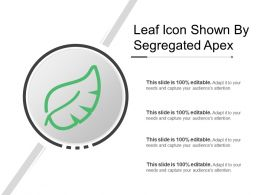 Leaf Icon Shown By Segregated Apex