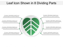 Leaf Icon Shown In 8 Dividing Parts