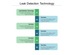Leak Detection Technology Ppt Powerpoint Presentation Show Guide Cpb