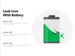 Leak Icon With Battery
