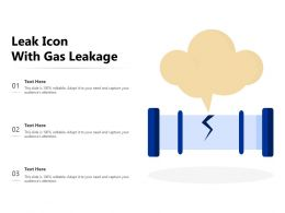 Leak Icon With Gas Leakage