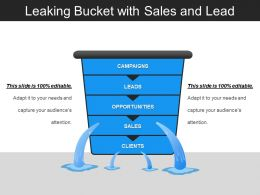 Leaking Bucket With Sales And Lead