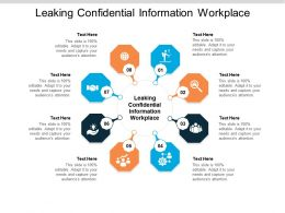 Leaking Confidential Information Workplace Ppt Powerpoint Presentation Layouts Gridlines Cpb