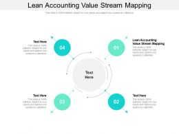 Lean Accounting Value Stream Mapping Ppt Powerpoint Presentation Inspiration Picture Cpb