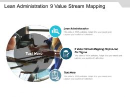 Lean Administration 9 Value Stream Mapping Steps Lean Six Sigma Cpb