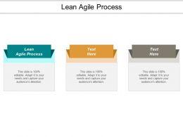 Lean Agile Process Ppt Powerpoint Presentation Model Slide Download Cpb