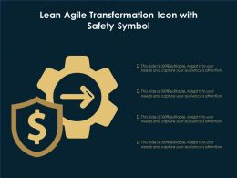 Lean Agile Transformation Icon With Safety Symbol
