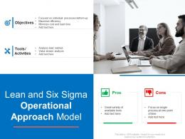Lean And Six Sigma Operational Approach Model
