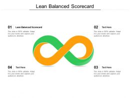 Lean Balanced Scorecard Ppt Powerpoint Presentation Gallery Influencers Cpb