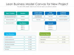 Lean Business Model Canvas For New Project