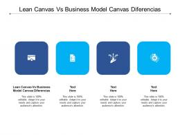 Lean Canvas Vs Business Model Canvas Diferencias Ppt Powerpoint Presentation File Background Cpb