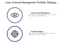 Lean Channel Management Portfolio Strategy Investment Banking Strategy Cpb