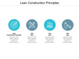 Lean Construction Principles Ppt Powerpoint Presentation Infographic Template Cpb