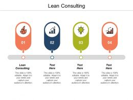 Lean Consulting Ppt Powerpoint Presentation Gallery Example File Cpb