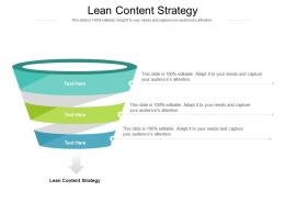 Lean Content Strategy Ppt Powerpoint Presentation Show Brochure Cpb