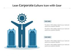 Lean Corporate Culture Icon With Gear