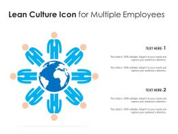 Lean Culture Icon For Multiple Employees