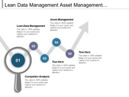 Lean Data Management Asset Management Reporting Conversion Model Marketing Cpb