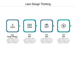 Lean Design Thinking Ppt Powerpoint Presentation Inspiration Picture Cpb