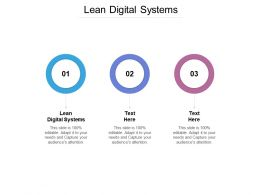 Lean Digital Systems Ppt Powerpoint Presentation Gallery Background Designs Cpb