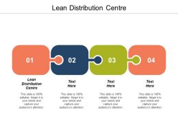 Lean Distribution Centre Ppt Powerpoint Presentation Gallery Infographic Template Cpb