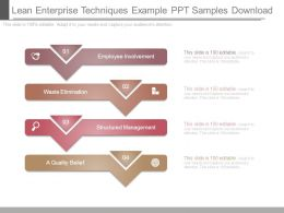 Lean Enterprise Techniques Example Ppt Samples Download
