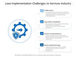 Lean Implementation Challenges To Services Industry