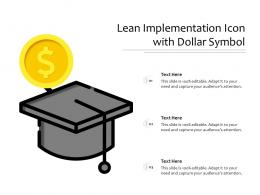 Lean Implementation Icon With Dollar Symbol