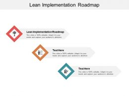 Lean Implementation Roadmap Ppt Powerpoint Presentation Slides Information Cpb