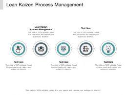 Lean Kaizen Process Management Ppt Powerpoint Presentation Professional Show Cpb