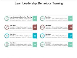 Lean Leadership Behaviour Training Ppt Powerpoint Presentation File Graphic Images Cpb