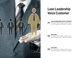 Lean Leadership Voice Customer Ppt Powerpoint Presentation Slides Design Templates Cpb