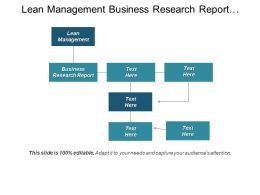 Lean Management Business Research Report Business Marketing Solution Cpb