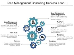 Lean Management Consulting Services Lean Management System Training Cpb